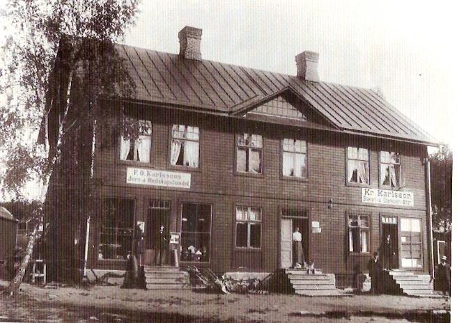 Kvillsfors 1910-talet. Krister Karlssons affärshus, byggt omkring 1907.